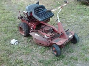 Bob Shelor had an ancient Snapper mower, similar to this one.